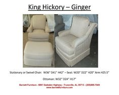 King Hickory Ginger Chair  You Choose the Fabric