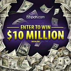 Publisher Clearing House $10Million Sweepstakes... Giveaway No.#4900