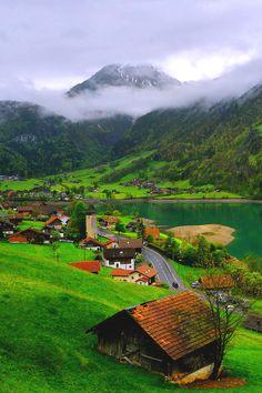 Switzerland - rural mountain landscape