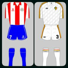 Paraguay 2 Belgium 2 in 1986 in Toluca. A point put both teams through to Round 2 from Group B at the World Cup Finals.