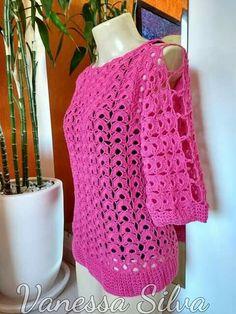 Crochet Blouse, Crochet Top, Crochet Baby Clothes, Beautiful Blouses, Chrochet, Irish Crochet, Crochet Patterns, Arts And Crafts, Pullover
