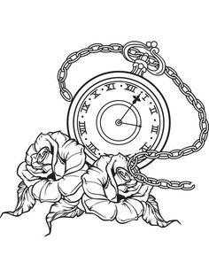 pocket watch tattoo flash | 1000x1000.jpg