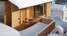 Peter Zumthor Timber Houses in Leis, Vals, Switzerland Peter Zumthor, Chalet Style, Timber House, Mountain Homes, Light Reflection, House Built, Tiny House, Leis, Building