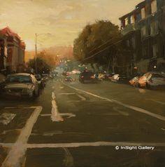 Artist: Hsin-Yao Tseng - Title: Sunset on Sutter St.