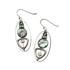 Checkout this amazing deal Hoop earring with baby blue pearl,$22