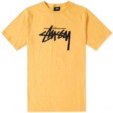 Stussy Stock Tee (Faded Yellow)