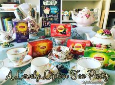 #LiptonTeaTime #Sponsored - I love having a #teaparty using my collection of #vintage #teacups with my favorite Lipton #teas and finger food recipes!   See my #Newpost #OntheBlog http://stylishgeekblog.com/home/2016/02/planning-lovely-tea-party-friends-lipton/