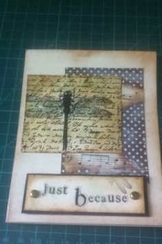 A card I made from scraps.