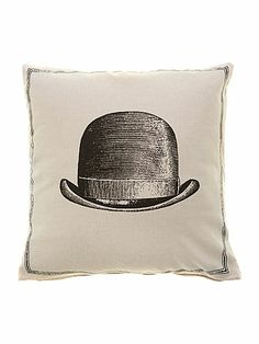 Linea Bowler Hat Icon Cushion