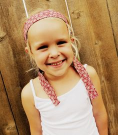 Red Vintage Hair Wrap for Girls to Women. Only $5.