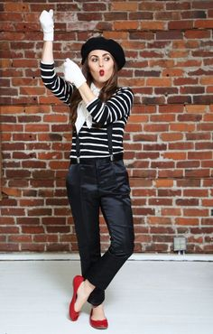 Best DIY Halloween Costume Ideas - Halloween French Mime - Do It Yourself Costumes for Women, Men, Teens, Adults and Couples. Fun, Easy, Clever, Cheap and Creative Costumes That Will Win The Contest http://diyjoy.com/best-diy-halloween-costumes