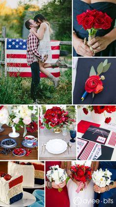 Fourth of July wedding inspiration board