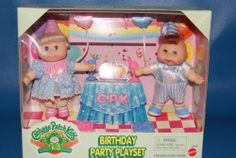 Vintage Mattel Cabbage Patch Kids Birthday Party Playset.