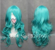 Fashion light blue wigs Synthetic Hairnet hair extenion Juniors cosplay wig 230g,Sailor Neptune stage props,for gift