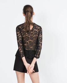 LACE TOP-Gothic-Trends-WOMAN | ZARA United States
