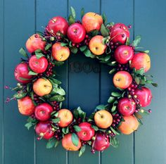 All Season Apple Wreath by RidgewoodDesignsCo on Etsy https://www.etsy.com/listing/492792452/all-season-apple-wreath