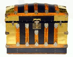 Vintage gold trunk via Randall Barbera Antique Trunk Restoration and Design