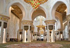 Luxury Interior Of Sheikh Zayed Grand Mosque Abu Dhabi