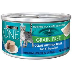 Purina One Grain Free Ocean Whitefish Recipe Moisture RichHigh in Protein 12 CANS NET WT 3 OZ EACH * Continue to the product at the image link. (This is an affiliate link)