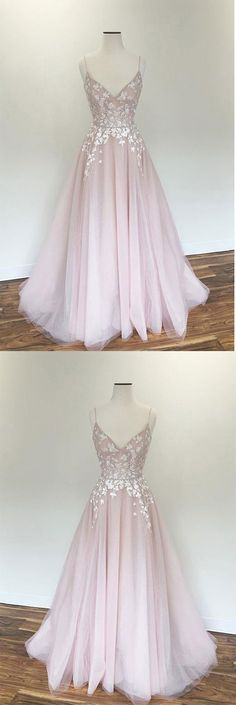Light pink v neck tulle applique long prom dress, pink evening dress, Shop plus-sized prom dresses for curvy figures and plus-size party dresses. Ball gowns for prom in plus sizes and short plus-sized prom dresses for Pretty Prom Dresses, Pink Prom Dresses, Dance Dresses, Ball Dresses, Elegant Dresses, Cute Dresses, Ball Gowns, Dress Prom, Dress Formal