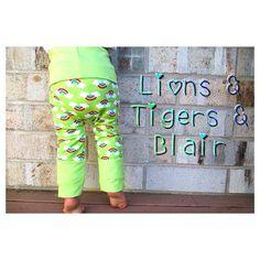 Handmade Lime Rainbow Fart Sacks - Size 3M-3T - Toddler Legging/Baby Legging/Grow With Me Pants/Cloth Diaper Pants/Toddler Pants/Baby Pants on Etsy, $26.00