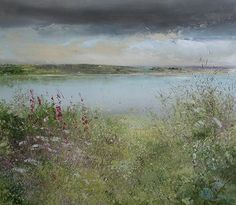 Foxgloves by Colliford Lake  Amanda Hoskin  Mid Cornwall Galleries