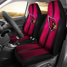 Incredible Line Pattern Arizona Cardinals Logo Car Seat Covers – Best Funny Store