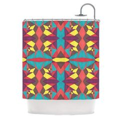 KESS InHouse Abstract Insects Shower Curtain