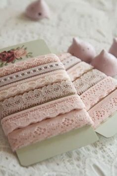 Cards of Pink Lace Edgings ....