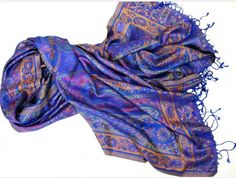 Tolle-Tücher.de stola abendstola seide blau türkis lila petrol blau festlic elegant Glamour, Plaid Scarf, Elegant, Fashion, Lilac, Accessories, Silk Shawl, Cashmere, Scarves