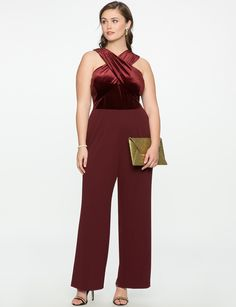 View our Cross Front Jumpsuit and shop our selection of designer women's plus size Dresses, clothing and fashionable accessories. Plus Size Prom, Plus Size Dresses, Fat Girl Fashion, Plus Size Fashion Blog, Plus Size Jumpsuit, Denim Romper, Ankle Length Pants, Easy Wear, Jumpsuits For Women