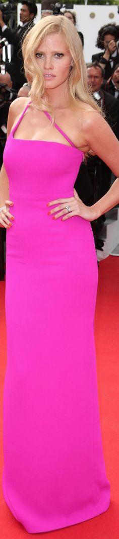 Lara Stone in Calvin Klein at the Cannes Film Festival 2014