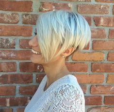 Long Blonde Pixie With Side Bangs