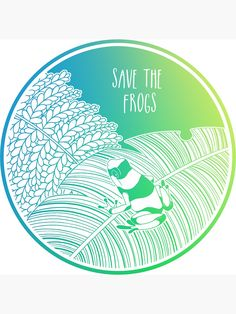 """""""Save the Frogs!"""" Sticker by Chikagi Bubble Stickers, Cool Stickers, Framed Prints, Canvas Prints, Art Prints, Save Our Earth, Glossier Stickers, Art Boards, Finding Yourself"""