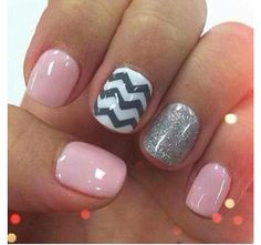 Pink Zigzag and Glitter