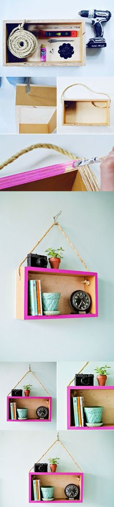 Pink edged box shelf