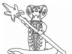 lego ninjago coloring pages snakes