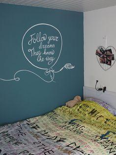 slaapkamer schilderen on Pinterest  Wall quotes, Vinyl wall quotes ...
