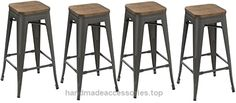 BTEXPERT 30-inch Industrial Metal Vintage Stackable Antique Gunmetal Rustic Distressed Counter Bar Stool Modern – Handmade Wood top seat( Set of 4 barstools ) Check It Out Now     $199.00    Metal Bar Stools – Modern Bright Style Stackable Studio Stool (Set of 4)   Best choice for office, party, or any occ ..  http://www.handmadeaccessories.top/2017/03/22/btexpert-30-inch-industrial-metal-vintage-stackable-antique-gunmetal-rustic-distressed-counter-bar-stool-modern-handmade-woo..
