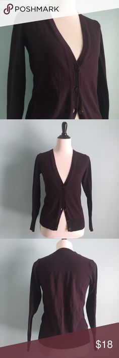 Plum Button-Up Cardigan Adorable plum Cardigan with buttons starting just below the bust. Super comfortable and warm. A great neutral addition to any outfit! Size small by Old Navy. Stretchy. Old Navy Sweaters Cardigans