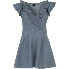 frill detail playsuit by None, via Polyvore