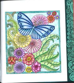 Colored with Prismacolor Premier pencils from Color Me Calm by Angela Porter and Lucy Mucklow
