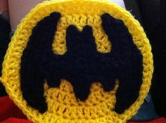 Batman crochet appliqué Pattern by whipping stitches on fb