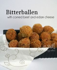 Cooking with teenager: Bitterballen with corned beef and edam cheese recipe