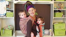 Tandem babywearing with a woven wrap & a Beco Butterfly SSC! - 3yo on Back and 9mo in Front :)