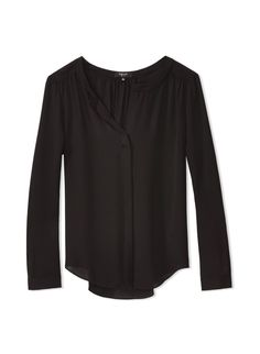 BABATON BERGEN BLOUSE - A sophisticated silk blouse designed with clean, polished lines