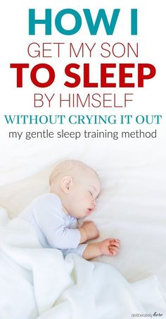 My gentle sleep training method that works every time. How I get my son to sleep by himself without crying. The one thing I do to get my baby to sleep without a fight. How to teach your baby to self soothe when they are used to being rocked, nursed, or held to sleep. How to get your baby to sleep in a crib by themselves. How to stop co-sleeping and get your baby to fall asleep on its own. The best way how to get your baby to sleep alone. Newborn baby sleep tips you need to know. Baby Schlafplan, Get Baby, Getting Baby To Sleep, Baby In Crib, My Baby Wont Sleep, Newborn Baby Care, Gentle Sleep Training, Sleep Training Methods, Toddler Sleep Training