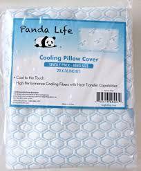 panda life cooling pillow cover king