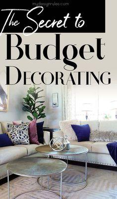 Home Budget, Living Room On A Budget, Diy Home Decor On A Budget, Diy Home Decor Projects, Affordable Home Decor, Living Room Decor Tips, Bedroom Decor, Decorating A New Home, Apartment Decorating On A Budget