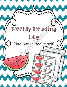 CUTE,CUTE,CUTE! FREEBIE Weekly Reading Log that students not only write amount of time read, but one sentence summary each night, questions they may have, & reading strategy they used! oh, and FREE bookmarks too